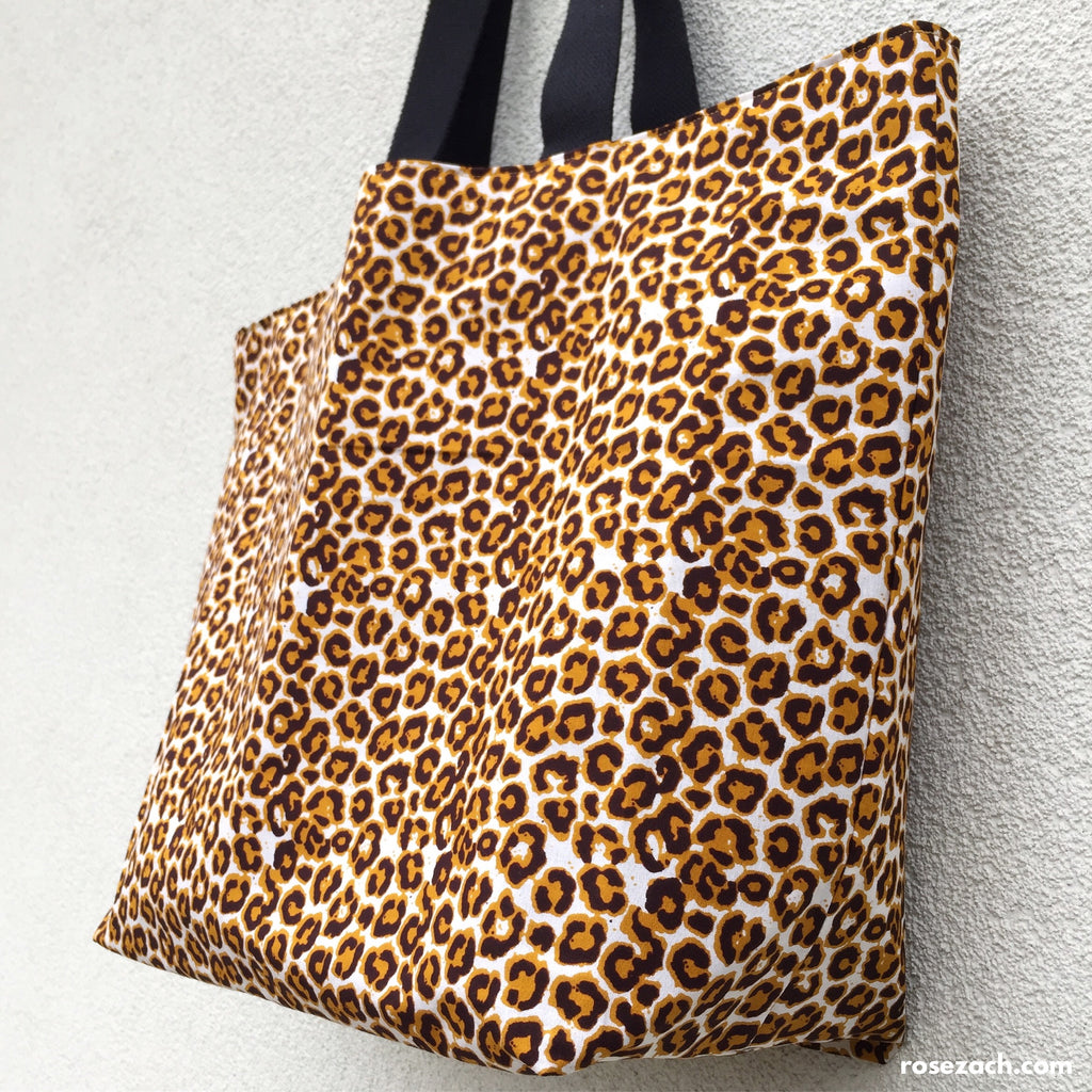 Colourful Reusable Shopper -  Leopard Print