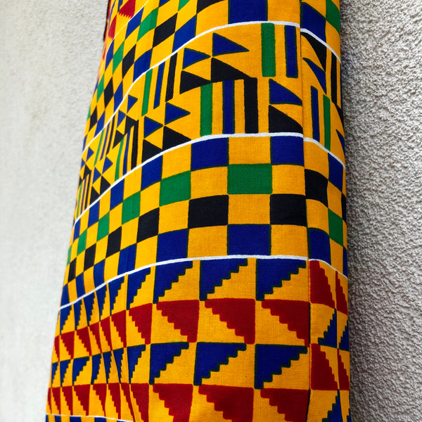 Colourful Small Shopping Bag - Kente print