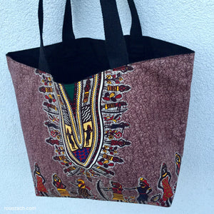 Colourful Ecofriendly Shopper - Exclusive Wax Print