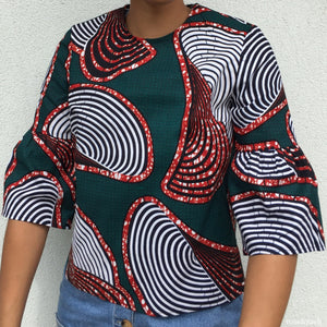 Colourful Top - African Wax Print