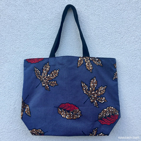 Shopper - 'Autumn Leaves' wax print