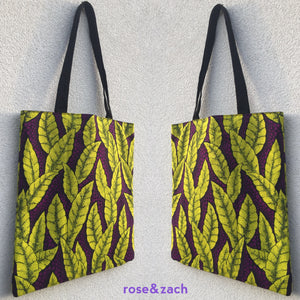 Tote Bag - Neon Leaves