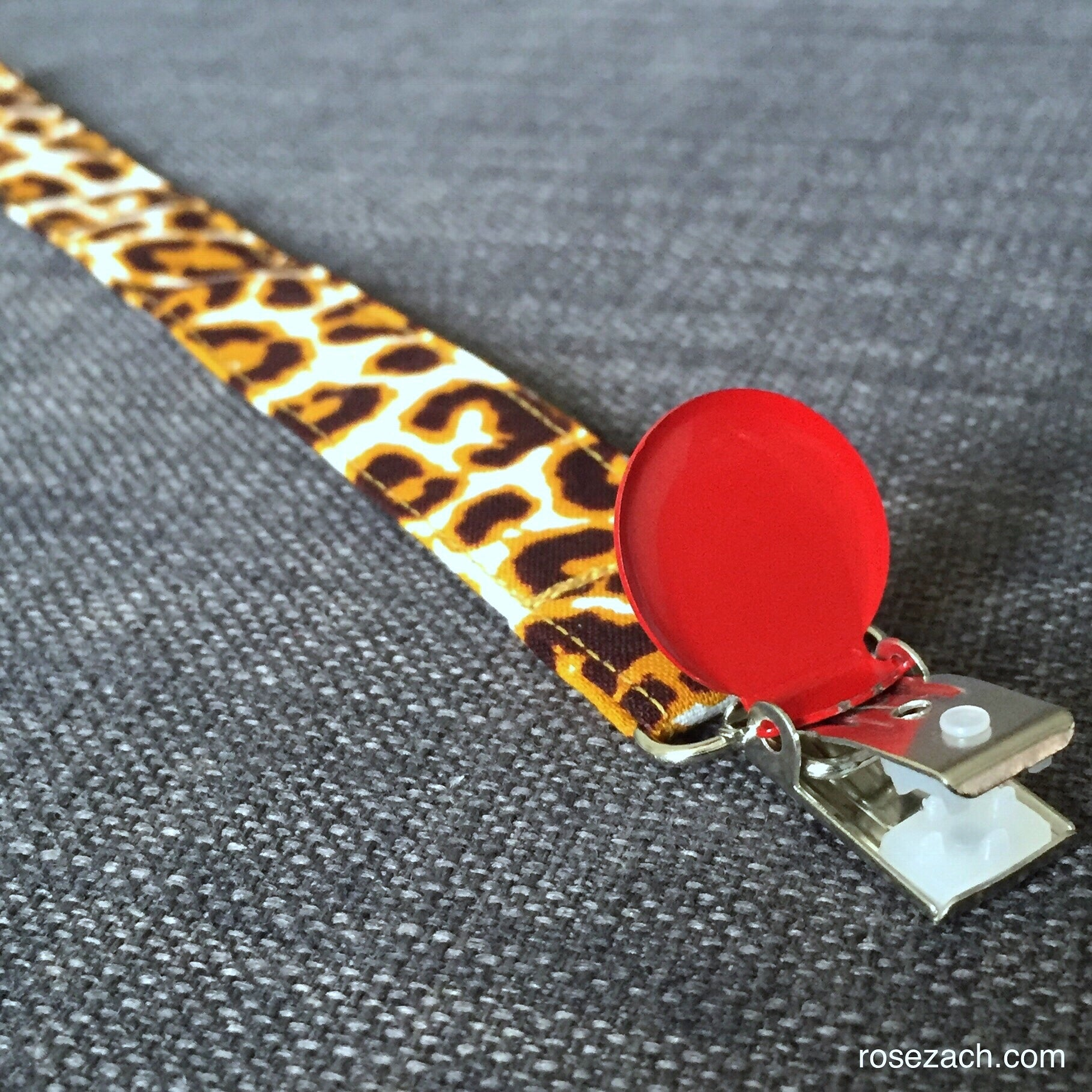 Colourful Pacifier Holder - LEOPARD wax print