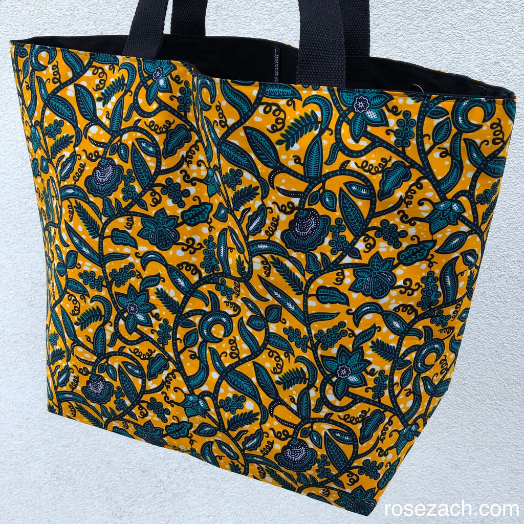 Shopper - 'Floral' Wax Print