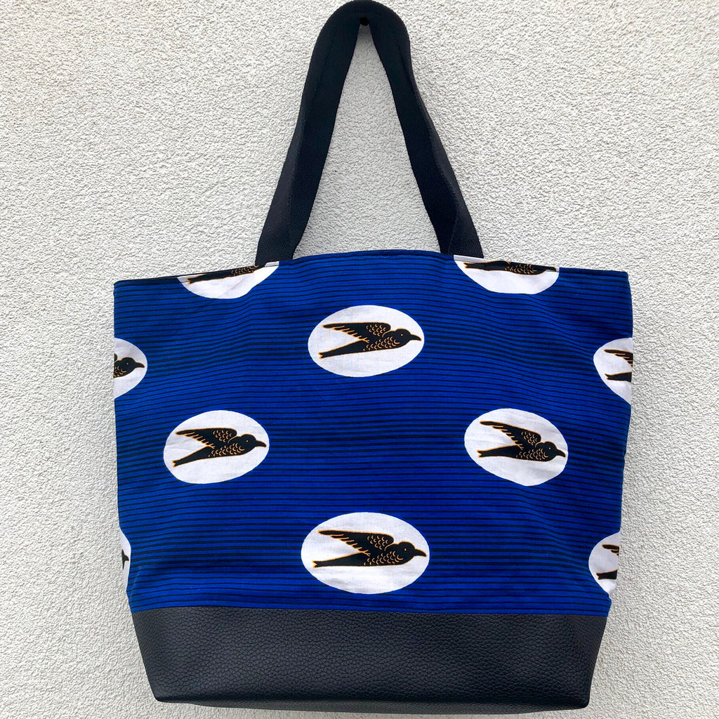 Shopper - 'Speed Bird' Wax Print