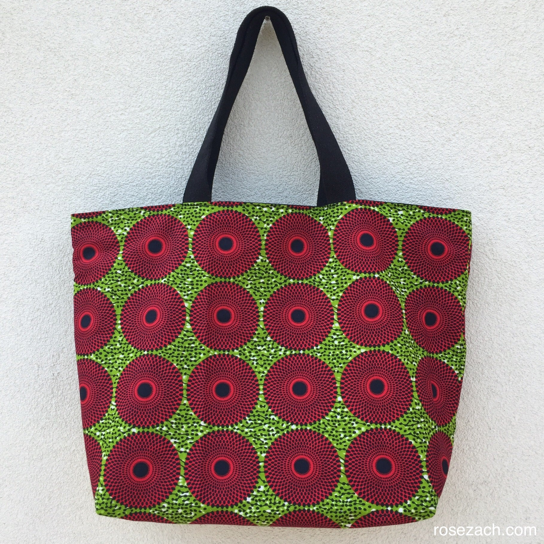 Colourful Reversible XXL Bag - wax print