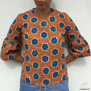 Colourful Top - Wax print