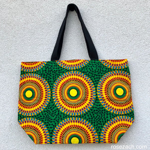 Shopper - 'Record' Wax Print