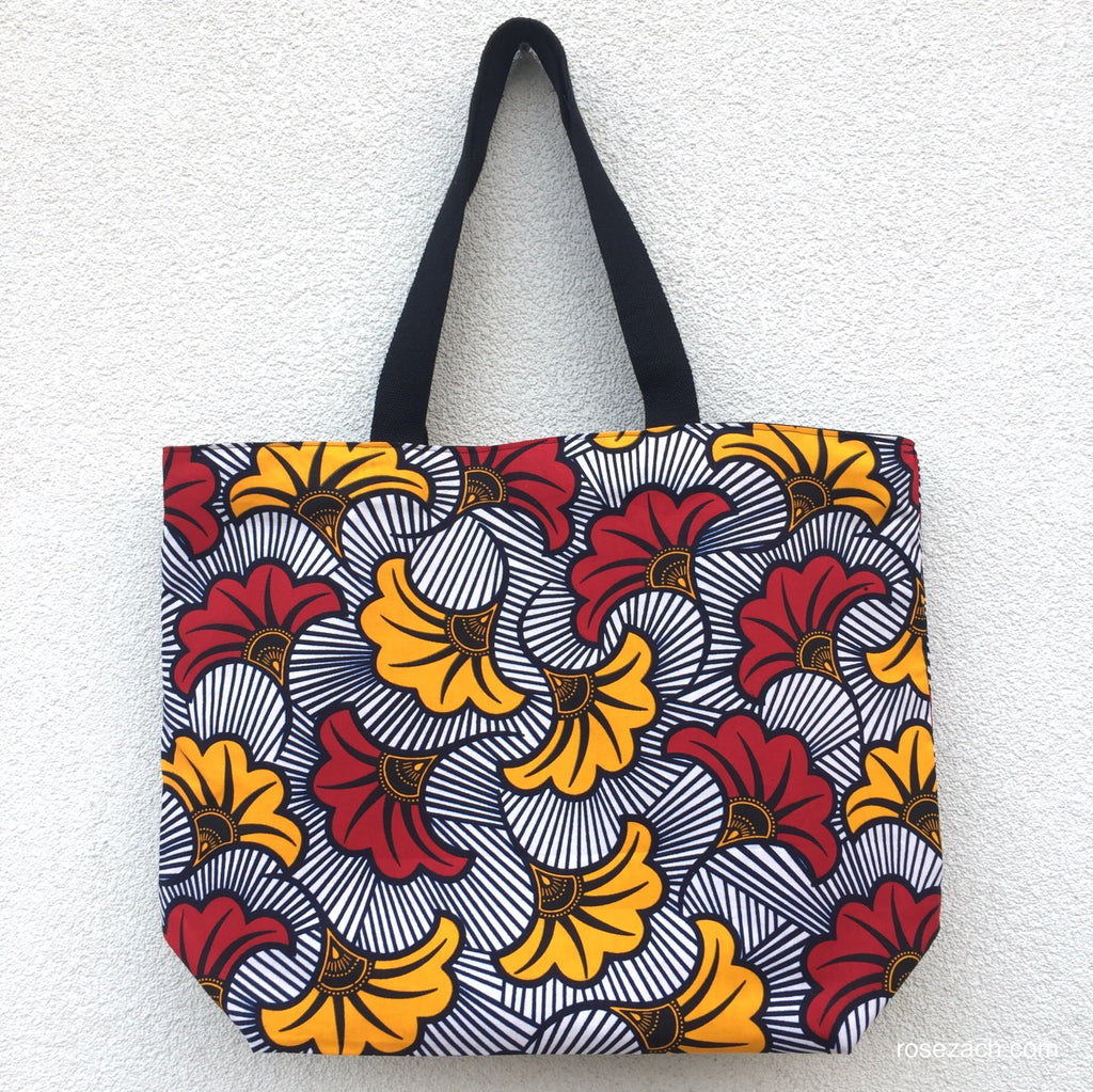 Colourful  Ecofriendly Shopper - African wax print