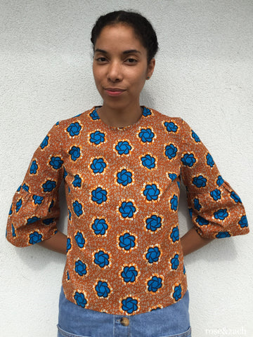 Colourful Women's Top - Wax print