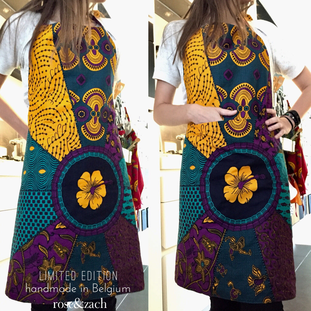 Exclusive Colourful Apron - wax print