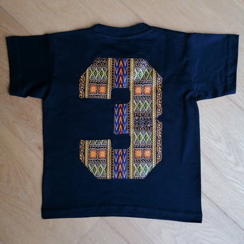 Navy Kids T-shirt '3'