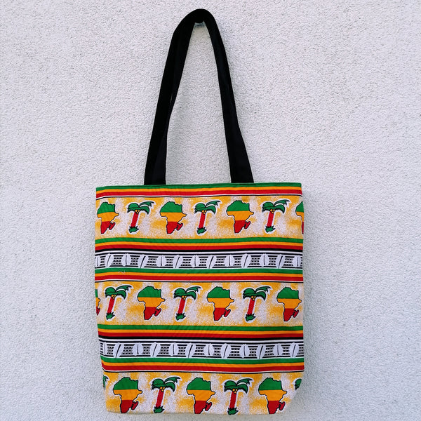 Colourful Shopping Bag - 'Africa' Wax Print