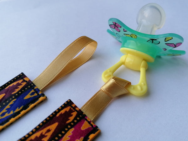 Colourful Pacifier Holders - 2 in pack