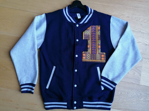 Navy Blue Varsity Jacket '1'