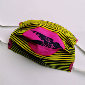 Set of 2 Handmade Reusable Masks - Colourful Wax Print