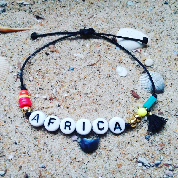 Colourful 'AFRICA' Bracelet