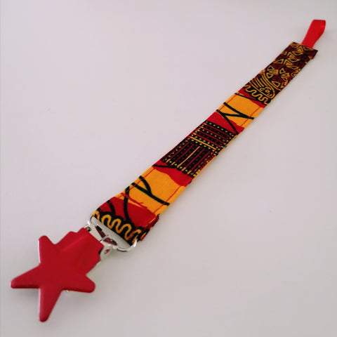 Colourful Pacifier Holder - UMOJA print