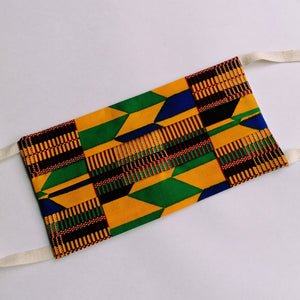 Handmade Reusable Face Mask - Kente