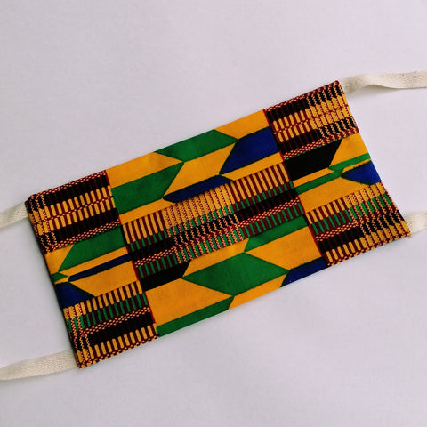 Handmade Reusable Mask - Kente Wax Print