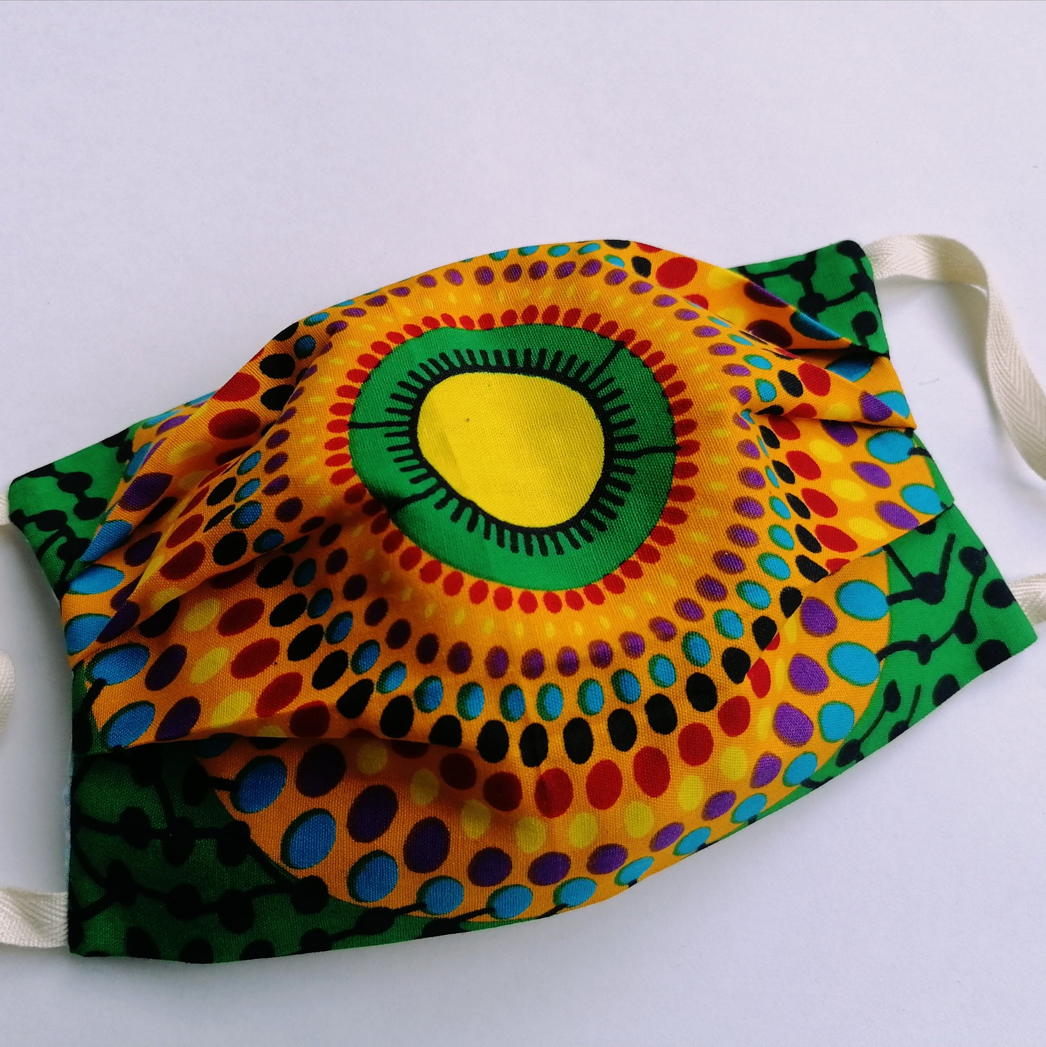 Handmade Reusable Mask - Colourful Wax Print