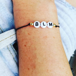 Unique 'BLM' Bracelet