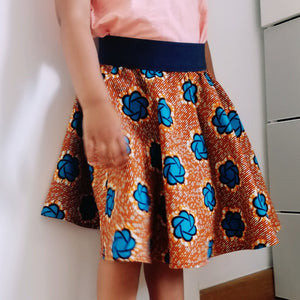 Colourful Girl's Skirt - wax print