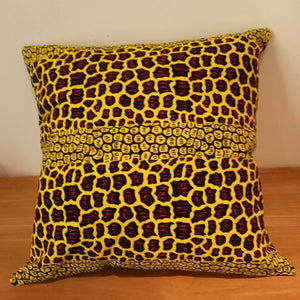 Colourful Decorative Cushion In Wax Print - Set of 2