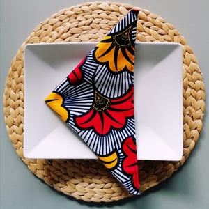 Colourful Napkins - Set of 4 - Cotton Wax African Print