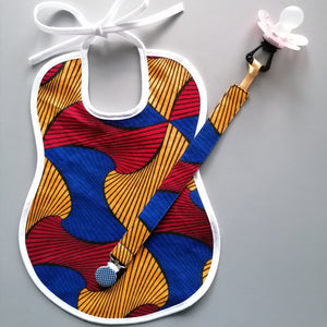Colourful 2-Piece Gift Set - Pacifier holder and Baby Bib