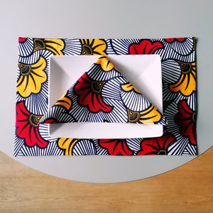 Colourful Placemats  - Cotton Wax African Print