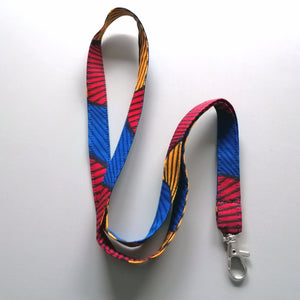 Colourful Keychord / Lanyard - Santana Wax Print