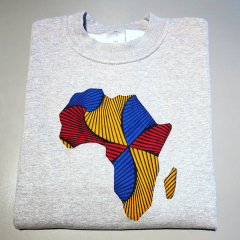 Grey Sweater 'AFRICAN MAP'