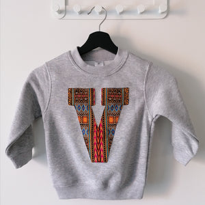 Kids Sweater Letter 'V'