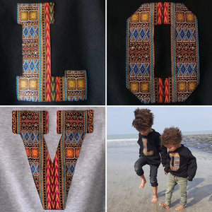 Kids Letter Hoodies - Wax Print
