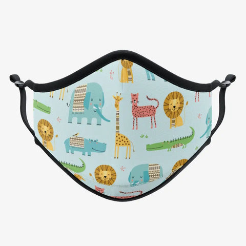 Colourful Reusable Mask - Animals Print