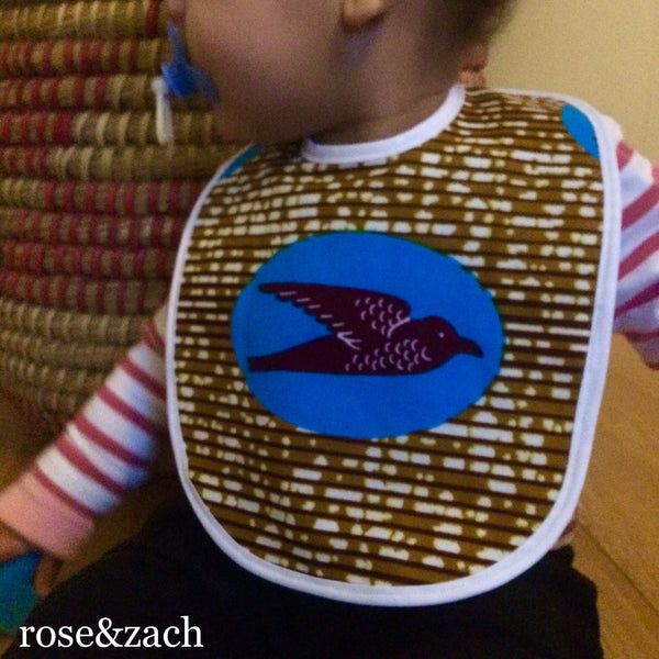 Colourful baby Bib - Wax print