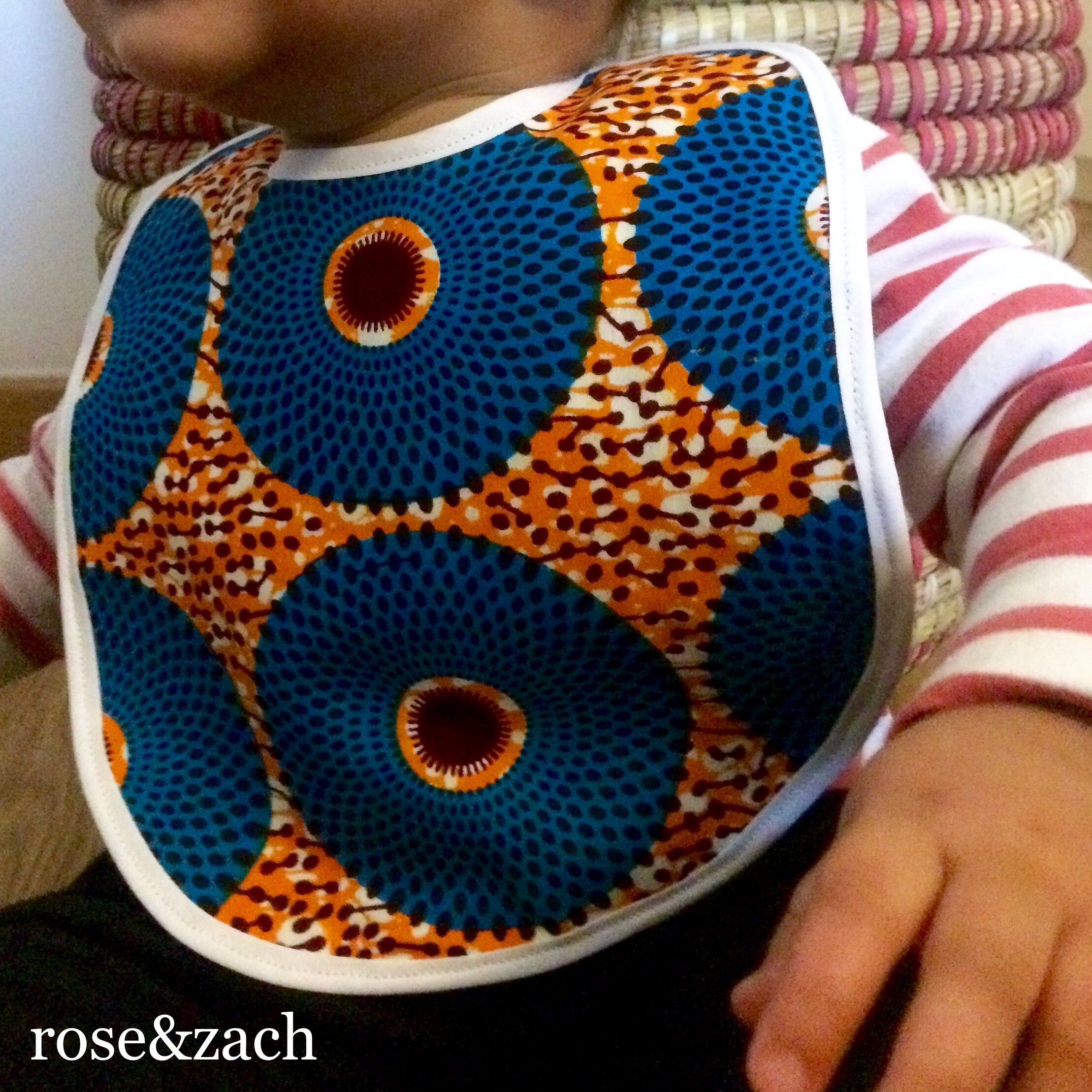 "Colourful Baby Bib - ""Nsu Bura"" Print"