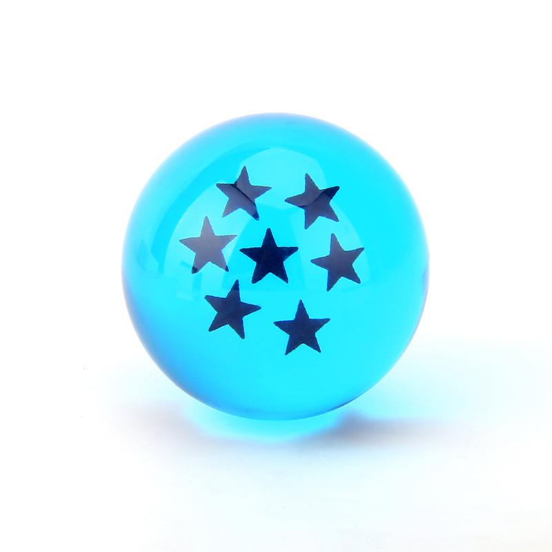 Set of 7 Blue Dragon Ball Z Super Magic Stars Classic Anime Crystal Ball Toy Gift