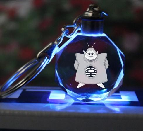 Kaio King Kai LED Pendant Light Up Dragon Ball Crystal Keyring Keychain