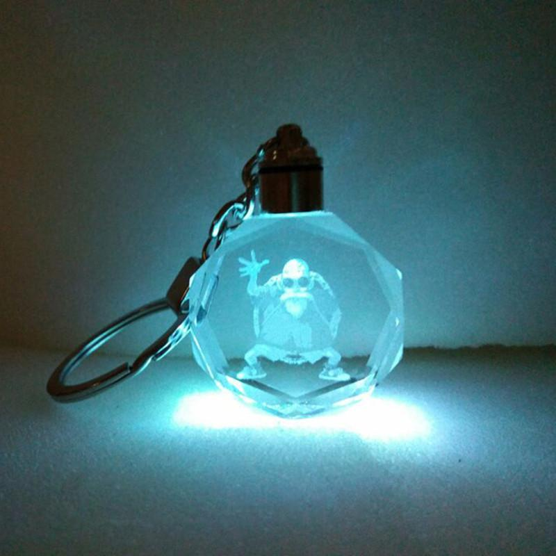 Master Roshi Kame-Sen'nin Light Up Dragon Ball  Super Saiyan Crystal Keyring LED