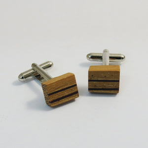 CUFFLINKS - FRUIT WOOD