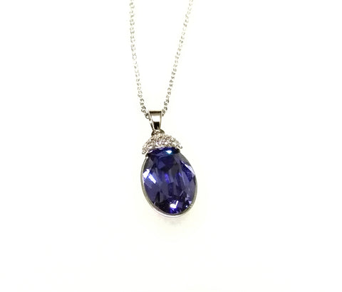 Pendant- Made with Glittering Blue Swarovski Element