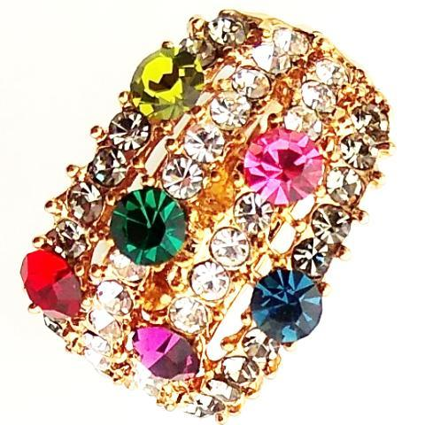 Korean Metallic Cubic Zircon Ring ( Adjustable)