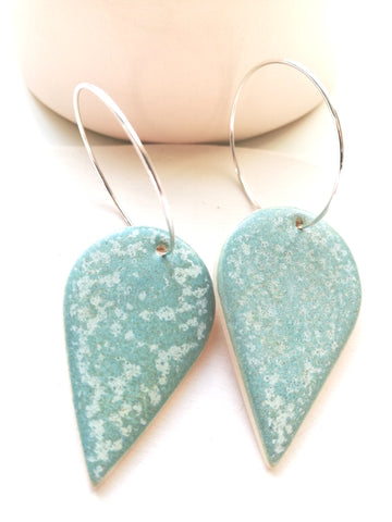 Rain Drop Earring - Speckled Mint