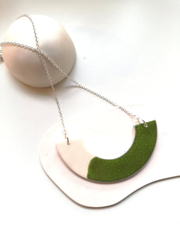 Forest Moss Green Necklace