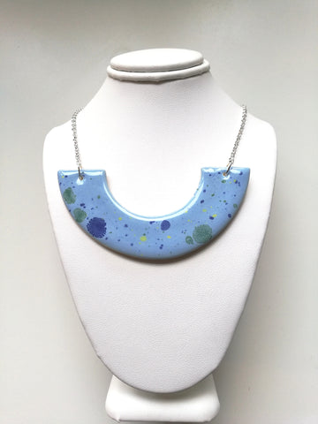 Sky Blue Fireworks Necklace