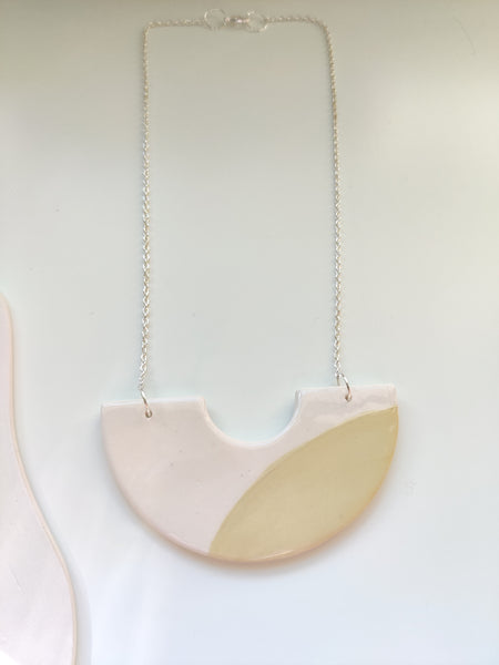 Mellow Yellow Crescent Necklace