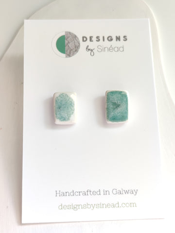 Morning Dew - Small Rectangular Stud Earring