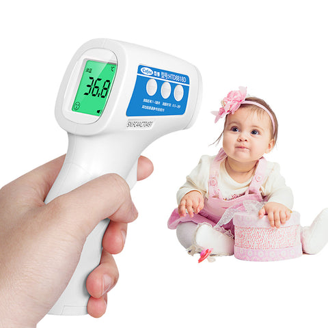 A baby forehead thermometer